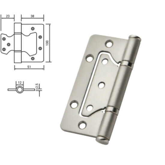 Stainless Steel Flush Door Hinges 100mm - Decor And Decor