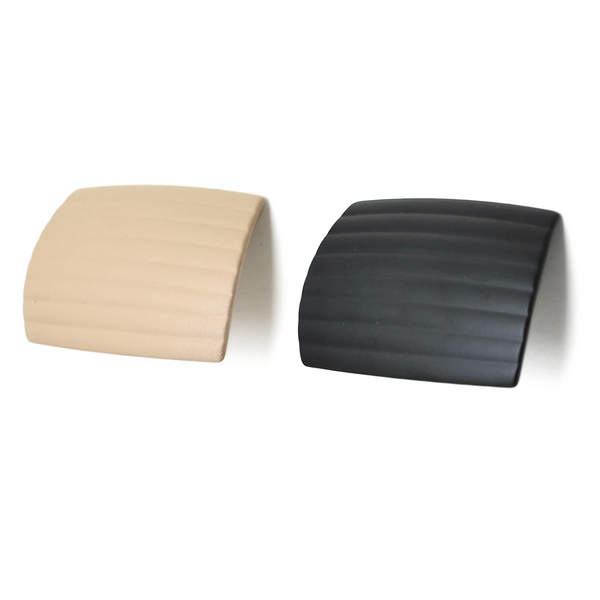 Matt Black Matt Cream Finger Pull Knob - Decor And Decor
