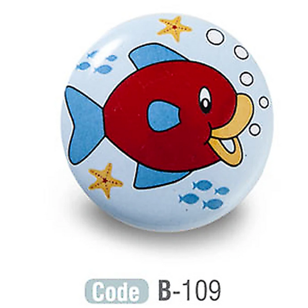 Fish Design Kids Ceramic Cupboard Knobs - Decor And Decor