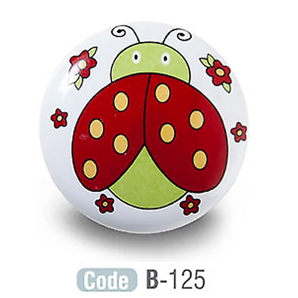 Ladybird Kids Ceramic Cupboard Knobs Porcelain - Decor And Decor