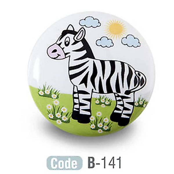 Kids Zebra Ceramic Cupboard Knob - Decor And Decor