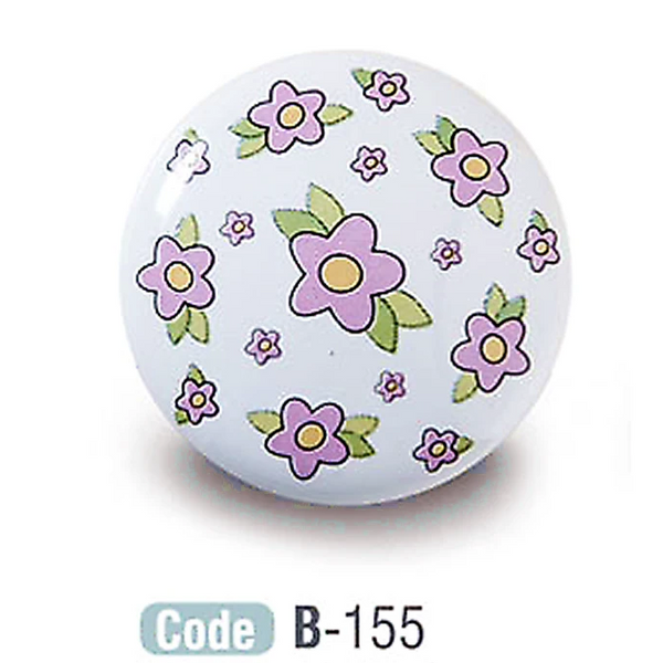 Floral Kids Ceramic Cabinet Knobs Porcelain - Decor And Decor