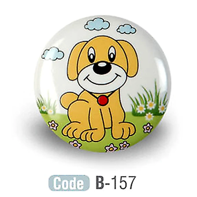 Kids Puppy Ceramic Cabinet Knobs Porcelain - Decor And Decor