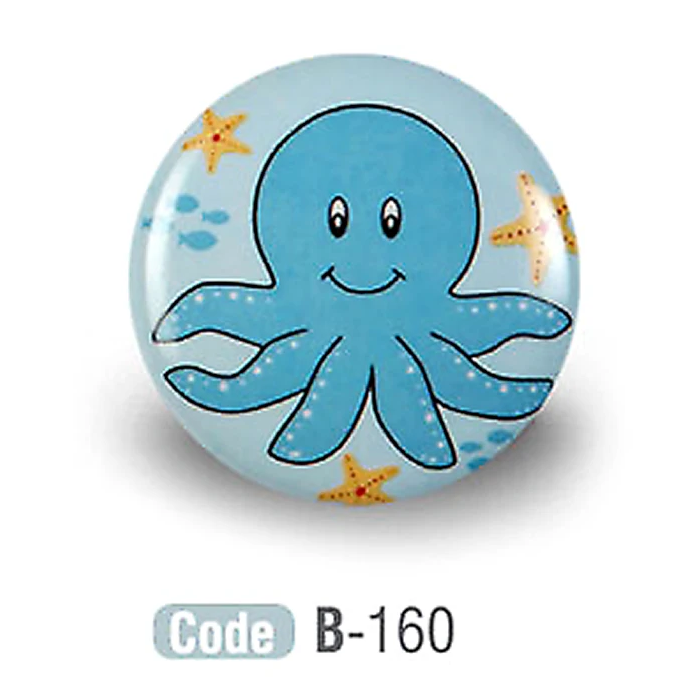 Octopus Kids Colourful Ceramic Cupboard knob - Decor And Decor