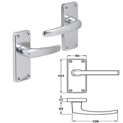 Chrome Internal Door Handles Lever Handles On Backplates - Decor And Decor