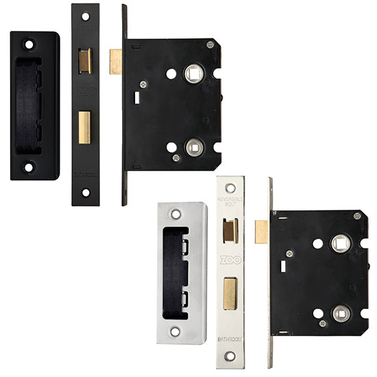 Zoo Hardware Mortice Bathroom Lock 64mm or 76mm - Decor And Decor