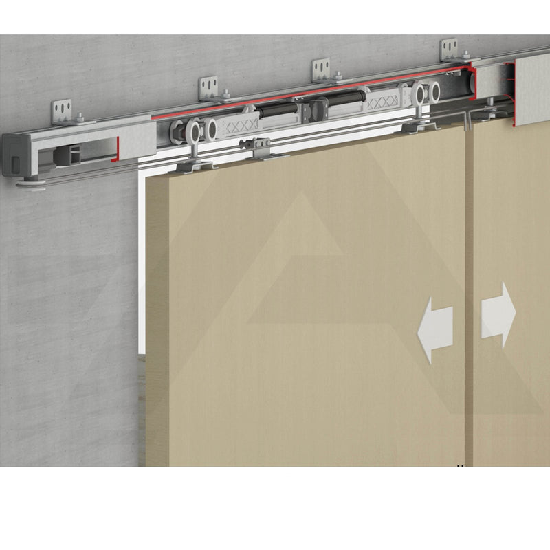 120KG Per Door Soft Close Top Hung Symmetric Synchro Sliding Track Kit - Decor And Decor