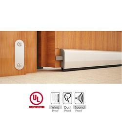Automatic Drop Down Recessed Door Bottom Seal Fire Sound Dust Wind Proof -  Decor And Decor