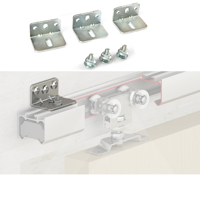 80KG Per Door Capacity Top Hung Sliding Door Track Gear System - Decor And Decor