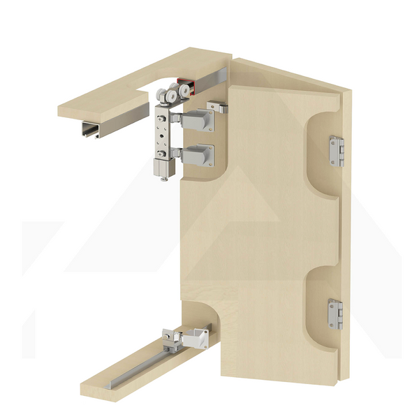 Sliding Folding Wardrobe Door Gear Kit 40kg Per Door - Decor And Decor