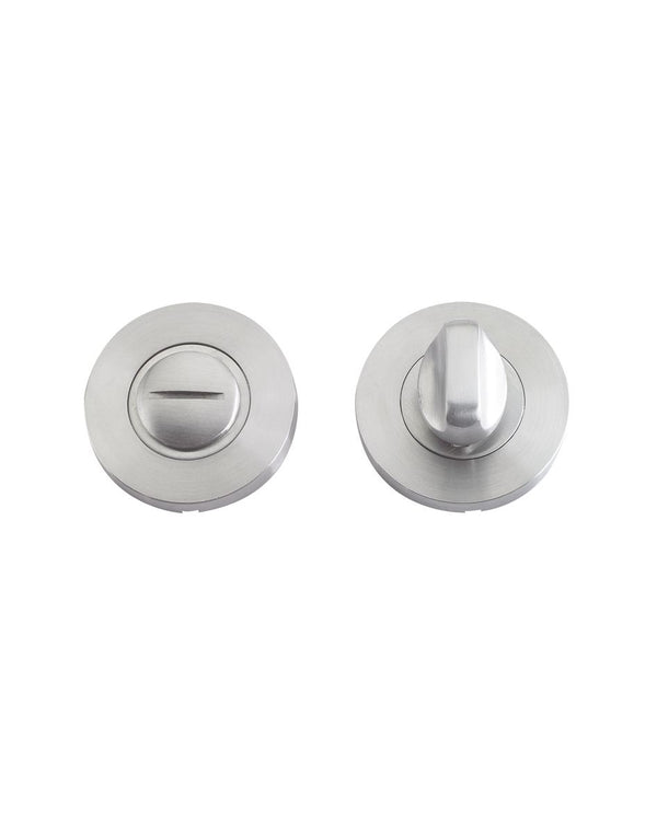 Satin Stainless Bathroom Thumb Turn and Release - Decor And Decor