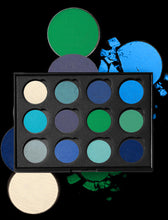 Load image into Gallery viewer, Blue Flame Eyeshadow Palette