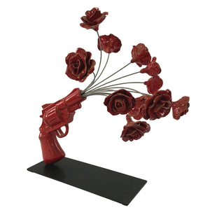 pop art gun ceramic design gift Italy