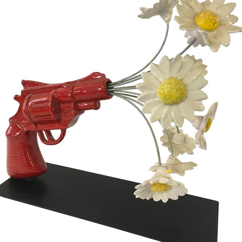 Gun with daisies