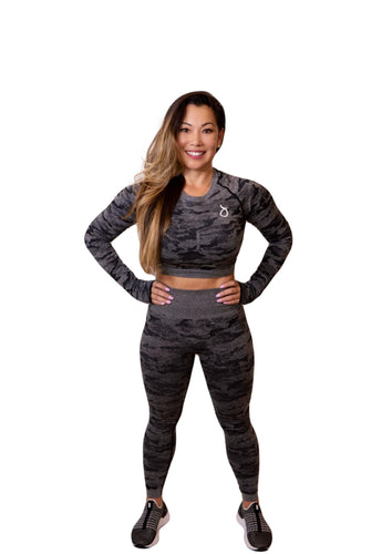 CAMO CROP LONG SLEEVE