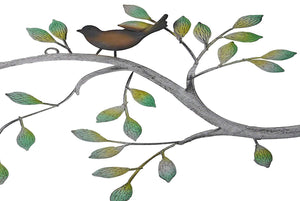 Iron Wall Hanging & Mounted Sculpture Birds Sitting On Tree Wall Art for Home Decor - Furnishiaa