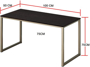 Solid Sheesham & Iron Frame Study Table for Students Office Desk Computer Table Console Tables for Living Room - Furnishiaa