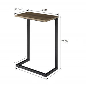 Sheesham Iron Frame Solid Wood Bedside Table for Bedroom Accent Table for Living Room Night Stand Side Table - Furnishiaa