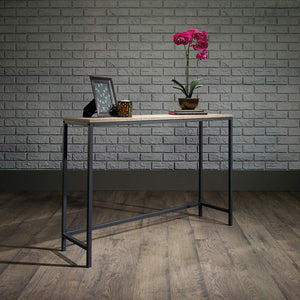 Sheesham Iron Frame Solid Wood Console Table for Living Room Side Table for Bedroom - Furnishiaa