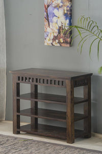 Solid sheesham wood shoe rack - Furnishiaa