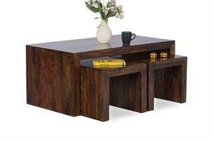 Solid Sheesham Wood Center Coffee Table for Home - Furnishiaa