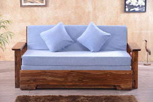 Solid Sheesham Wood Sofa cum Bed - Furnishiaa