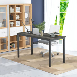 Iron Frame Solid Wood Study Table for Students Office Desk Computer Table Console Tables for office Living Room - Furnishiaa