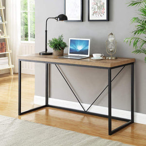 Solid Sheesham Wood & Iron Study Desk Office computer table for home office - Furnishiaa