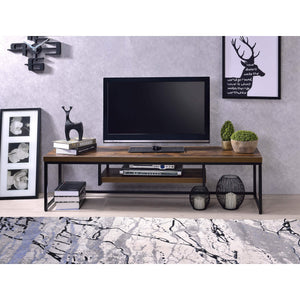 Wood and metal Showcase for TV Unit Cabinet - Furnishiaa