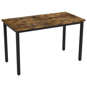 Iron Frame Solid Wood Study Table for Students Office Desk Computer Table Console Tables for Living Room - Furnishiaa