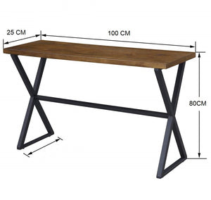 Iron & Wood Center Console Tables for Living Room Home - Furnishiaa