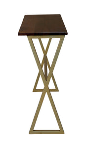 Iron & Wood Center Console Gold Table for Living Room Home - Furnishiaa