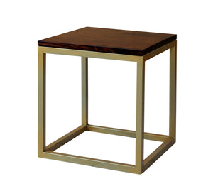 Wooden & Iron Shape Bedside Stool  Night Stand Tables for Bedroom & Living Room(Black) - Furnishiaa