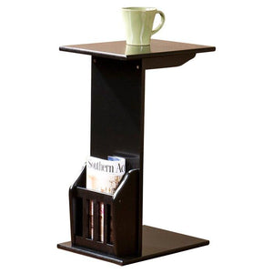 C shape Night Stand End Beside Table Black for living and home - Furnishiaa