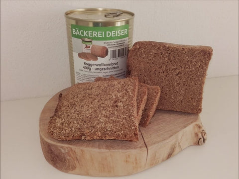 Dosenbrot - Roggenvollkornbrot - 400g in der Dose - EMERTAC - Emergency Supplies & Tactical Gear
