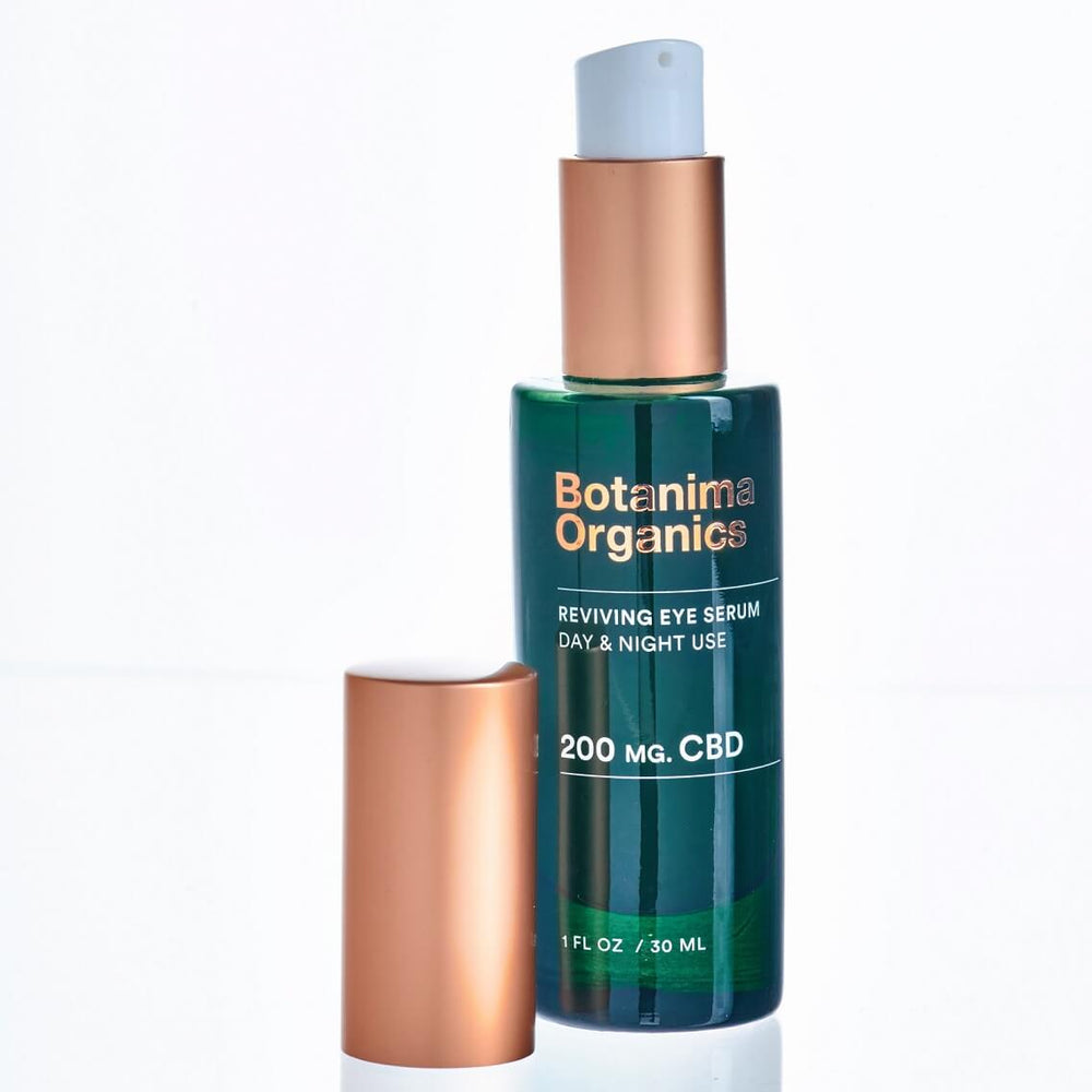 Load image into Gallery viewer, Antiaging-Reviving-CBD-Eye-Serum-for-Day-and-Night-Use-Video-Botanima-Organics-Premium-Skincare