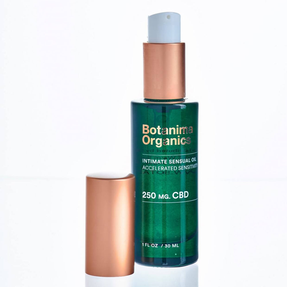 Intimate-Sensual-CBD-Oil-for-Accelerated-Sensitivity-Botanima-Organics-Open-Bottle