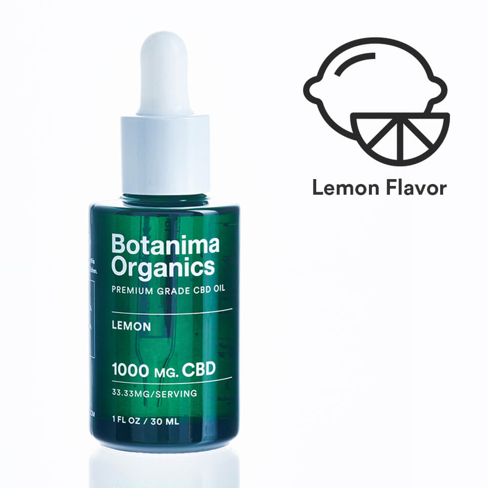 Load image into Gallery viewer, Premium-Grade-CBD-Oil-Tincture-1000mg-Lemon-Flavor-Icon-Well-being-Botanima-Organics