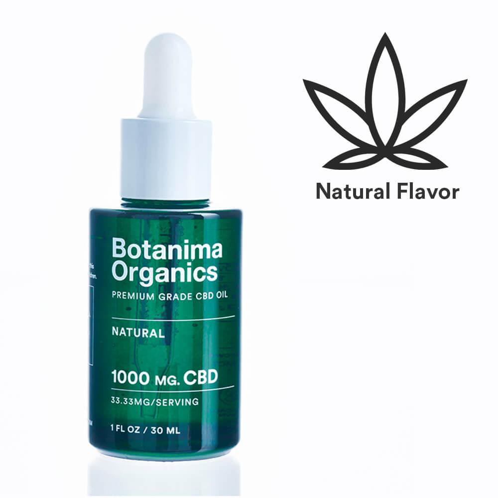 Load image into Gallery viewer, Premium-Grade-CBD-Oil-Tincture-1000mg-Natural-Flavor-Icon-Well-being-Botanima-Organics