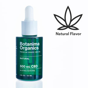 Load image into Gallery viewer, Premium-Grade-CBD-Oil-Tincture-500mg-Natural-Flavor-Icon-Well-being-Botanima-Organics