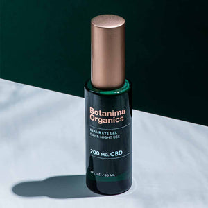 Repair-CBD-Eye-Gel-Dark-Green-Bottle-With-Rose-Gold-Cap