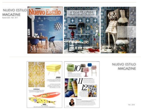 Kaymanta Carpets in New Style Magazine and Elle Decoration