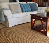 Carpet done to hand in organic jute by Kaymanta