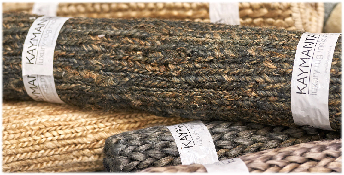 handmade area rugs and carpets by kaymanta of organic jute
