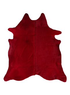 FREE FORM COWHIDE RUG [ Red ]