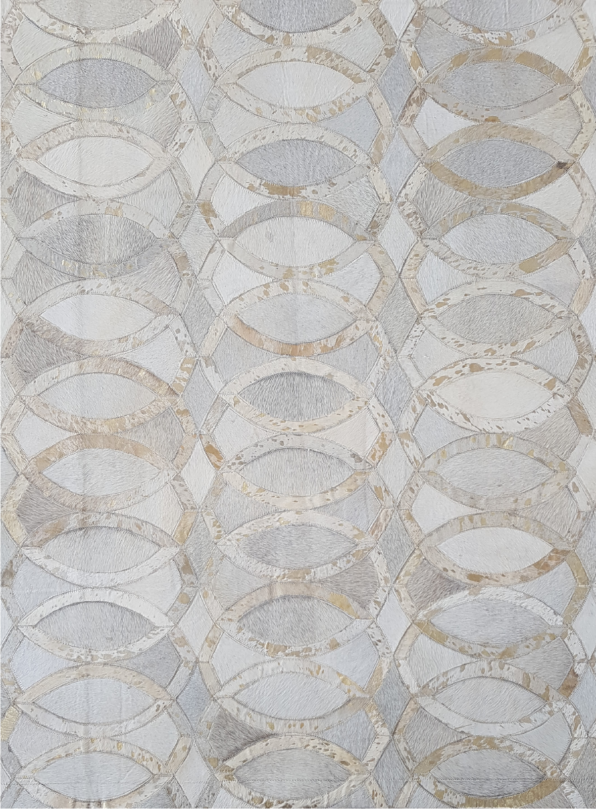 SIDNEY Handmade Area Rug [ White & Gold ] 9.5 x 12 Ft.