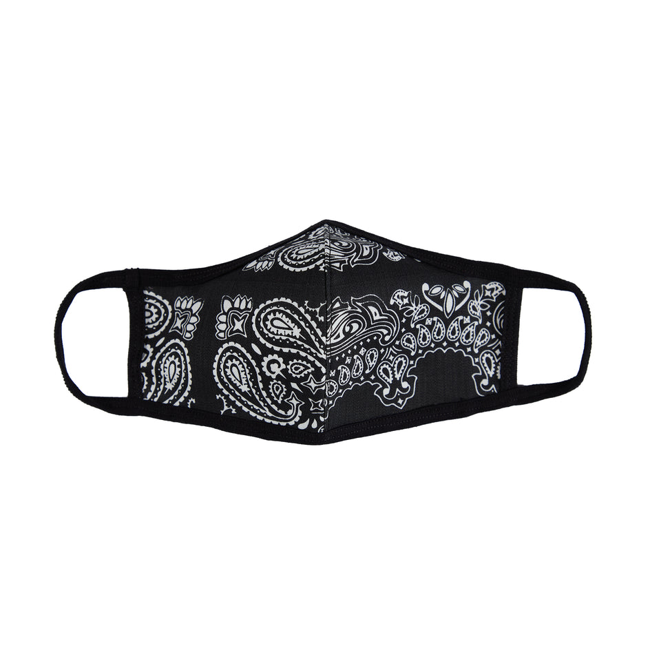 FACE SHIELD V.2 - BLACK PAISLEY