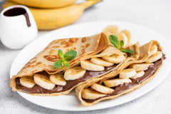 Have Dessert For Breakfast: Healthy Banana Crepes