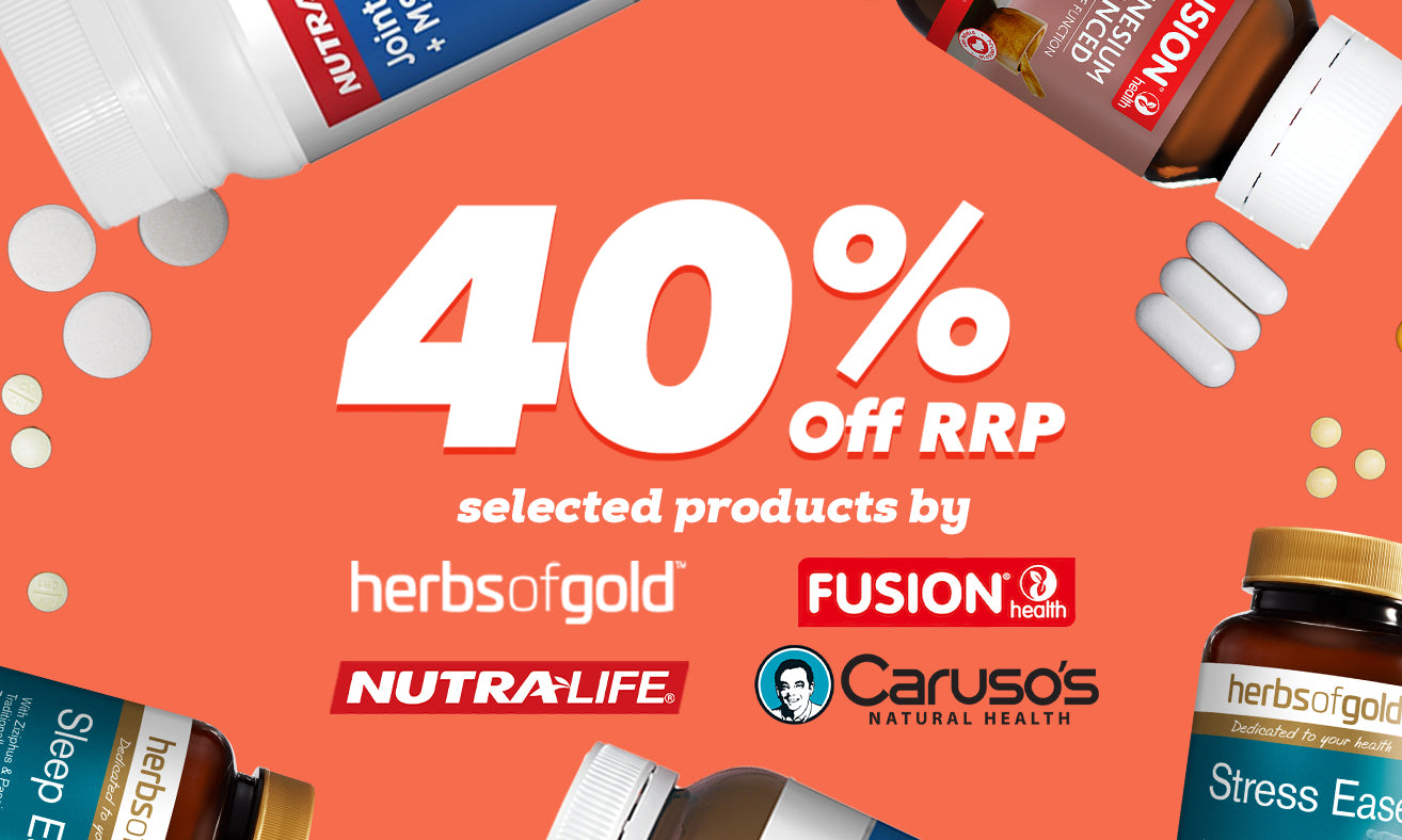 40% off RRP selected products