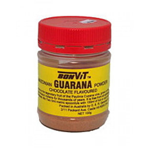 Guarana Powder 100g Chocolate Flavour by Bonvit